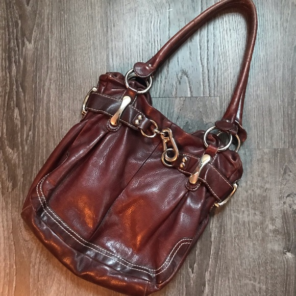 b. makowsky Bags   B Makowsky Brown Leather Over The Shoulder Purse ... d3e5894891